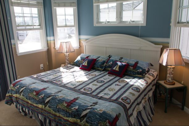 Second floor bedroom with king bed
