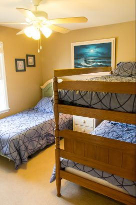 Second floor bedroom #4 with bunkbed and twin bed