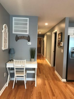 Desk & Hallway