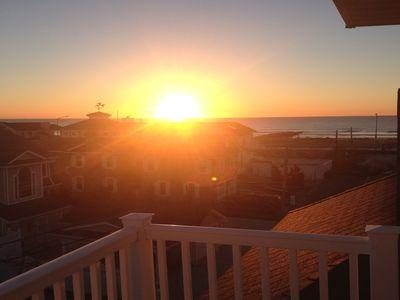 Sunrise welcomes another great vacation day (From Top Master Suite Deck)
