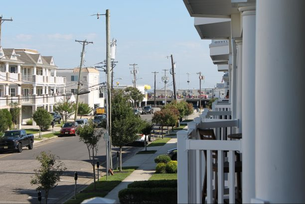 View of the boardwalk from the deck.