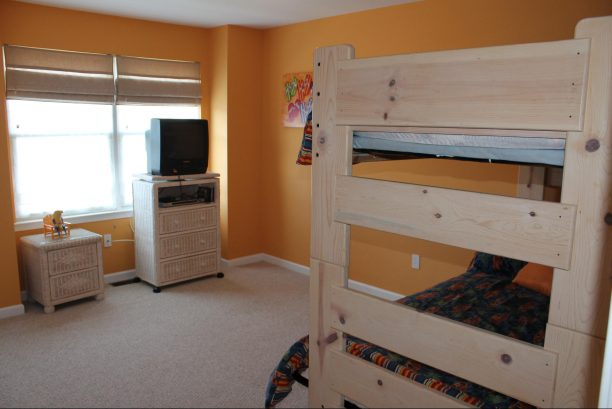 Third bedroom with Twin over Full bunk bed and Twin trundle.