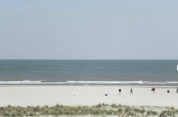 Beach as seen from street