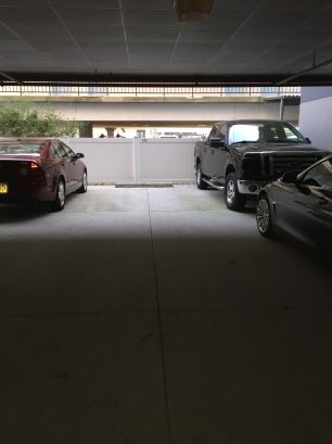 Reserved parking under the building for two cars
