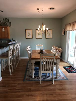 Dining area with seating for all