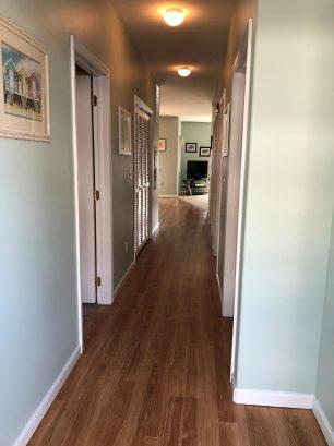 Hallway as seen when entering the condo