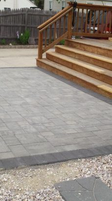 New paver patio in front.