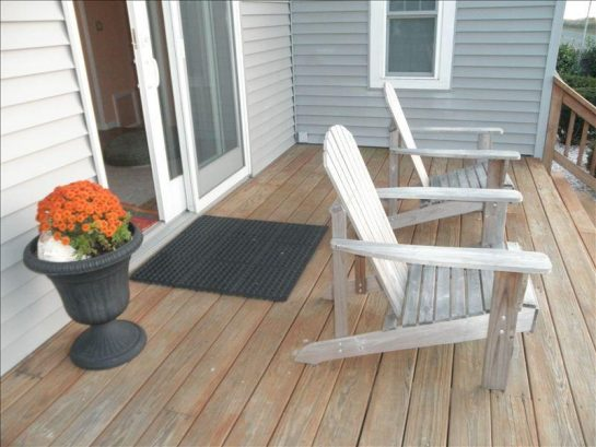 Front deck...all that is missing is you and your glass of wine...