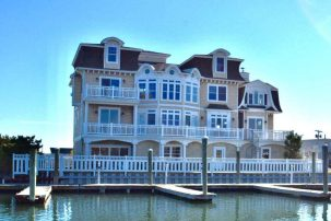 Enjoy your Bayfront vacation in Menhaden Manor. 7000 sq/ft of luxury, fun and water all around!