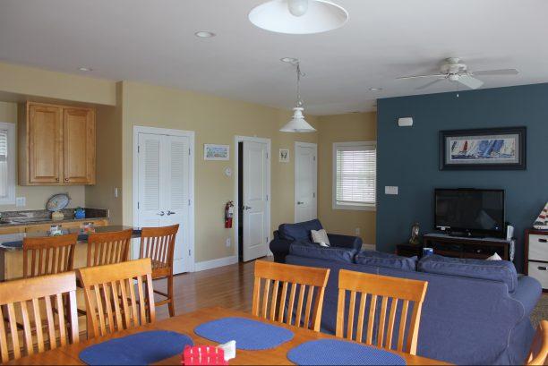 Open concept living area - 1st floor washer & dryer, & powder room. Lots of sun!