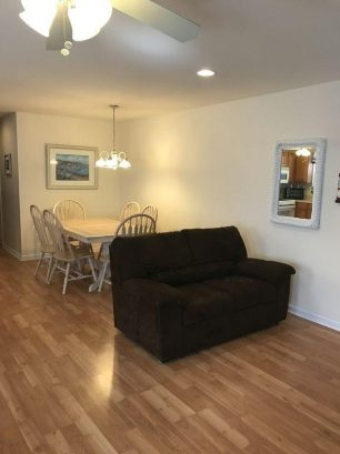 Love Seat & Dining Area