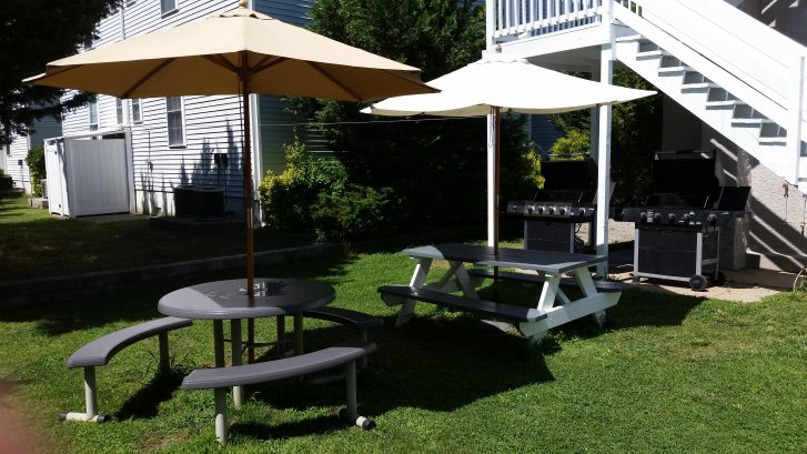 2 Grills in Backyard
