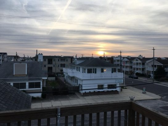Sunset bay views from the large deck