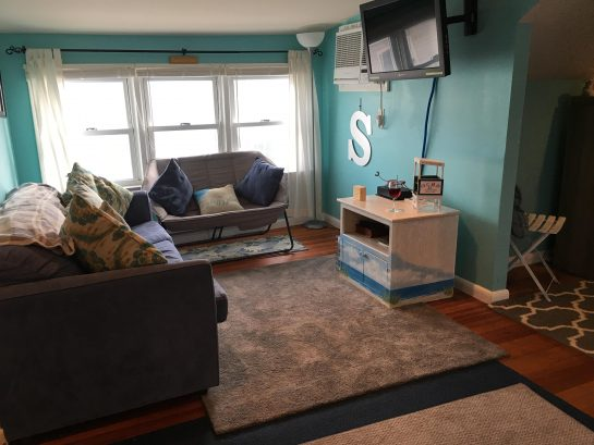 New furniture and larger SMART TV