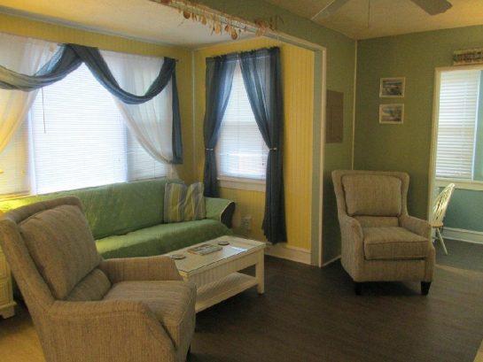 Living room showing new floor