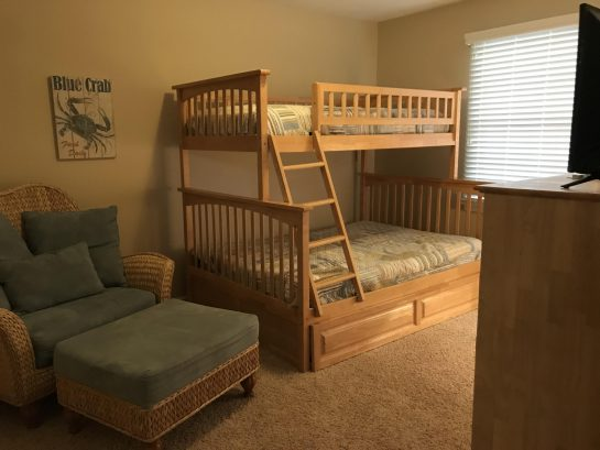 3rd Bedroom - twin over full bunk with twin trundle & TV
