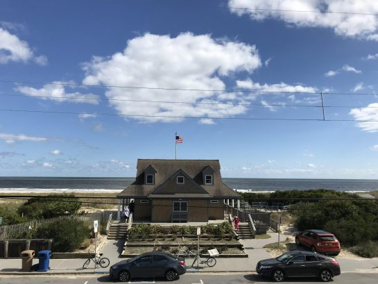 Beautiful Ocean Views from the Deck and Living Room/Dining Room/Kitchen PLUS the convenience of the First Aid Building - right across the street!