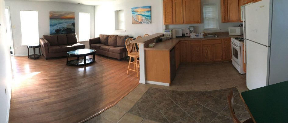 Unit B: Living Room / Kitchen