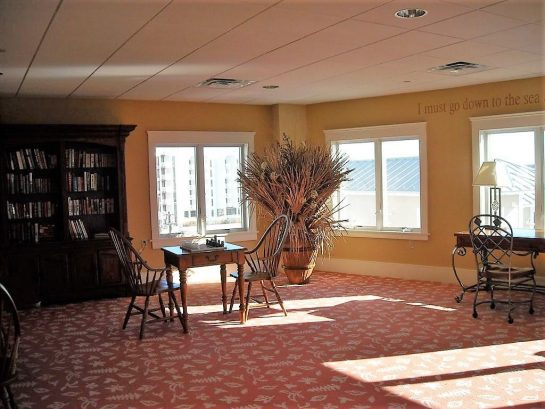 If You Must Work on Vacation, Do it in our Gorgeous 4th Floor Library w/ WIFI