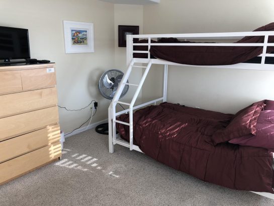 Bunk bed with full and twin