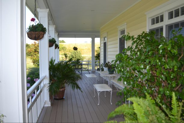 Front porch perfect for early morning coffee.