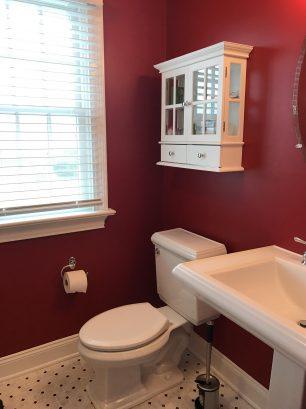 Bathroom off bedroom.