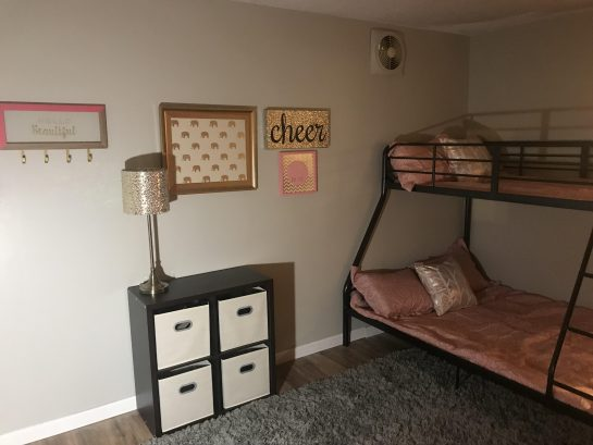 Bedroom; we are adding a trundle bed, sleeps an additional two people. So, this room will sleep 5 in total