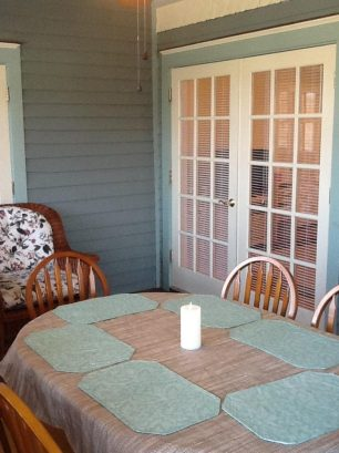 Three season room dining table