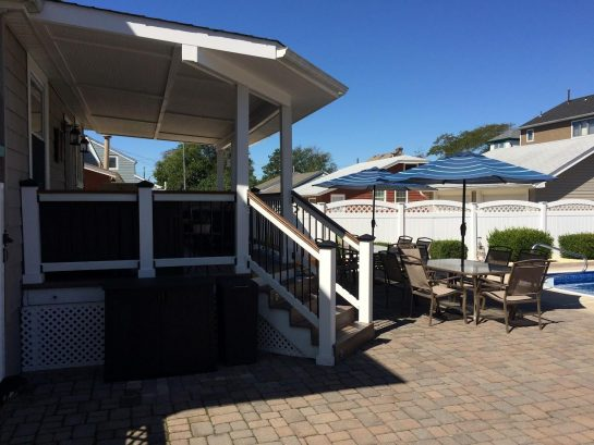 Covered Deck plus Lots of Outdoor Dining Area