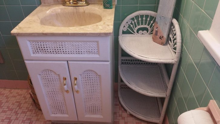 We added more bathroom storage for toiletries, make-up, etc. Hair Dryer provided