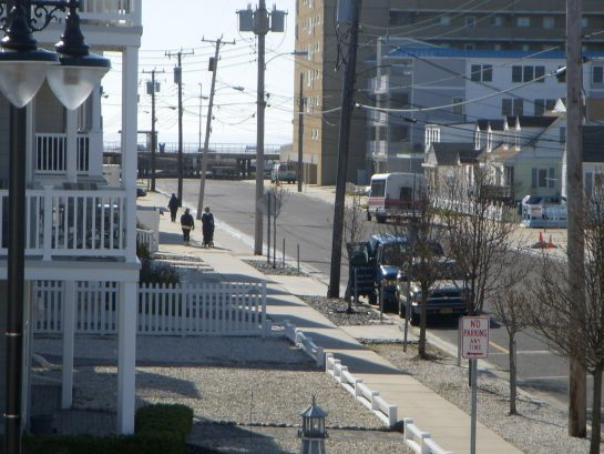 One block to beach where boardwalk begins