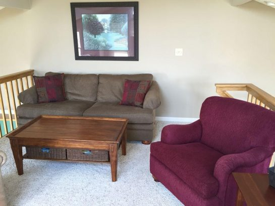 Loft with pull-out queen sofabed