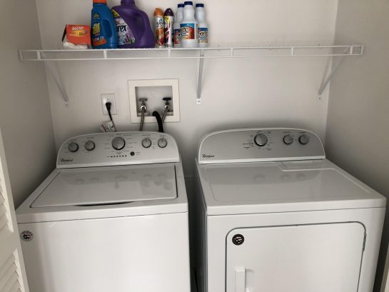 Convenient 3rd fl laundry room with brand new full-size washer and dryer