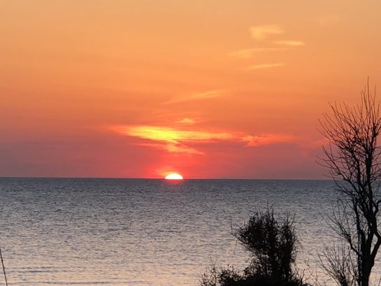 Great sunsets await - seen from living  room deck