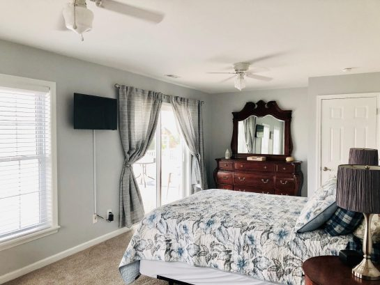 Master Bedroom with deck access and great views