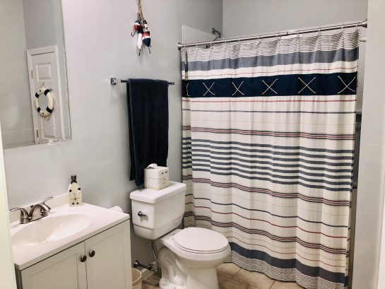 First floor -full bath  (#3)  - huge space w/closet, bench/changing area