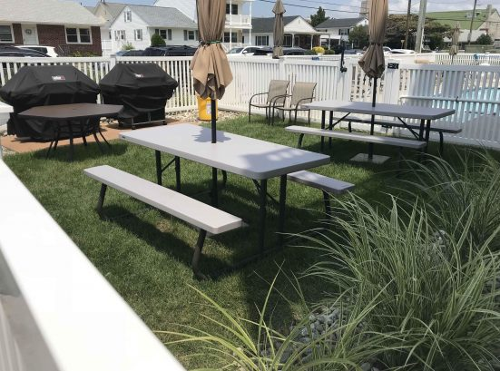 Picnic Area with Weber Grills