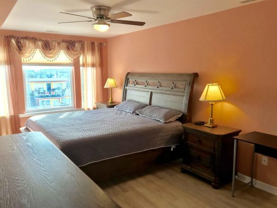 Spacious Master Bedroom with King Sized Bed with Memory Foam Mattress