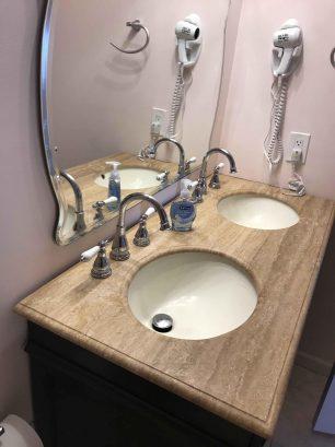 Double Sink Vanity in Master Bath