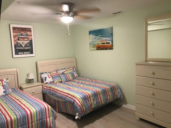 2nd Bedroom with Full Size and Twin Beds