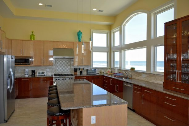 Master Chef Kitchen with ocean views