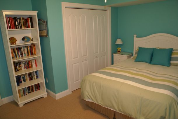 2nd Bedroom with Flat Screen TV and Lending Library