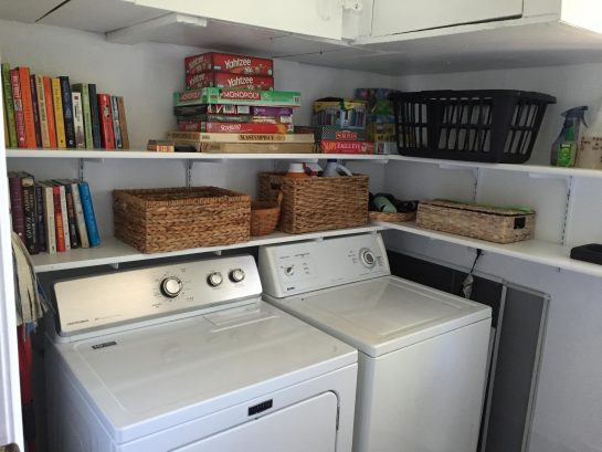 1st Floor Laundry Room with Games and Books - Shared by both units