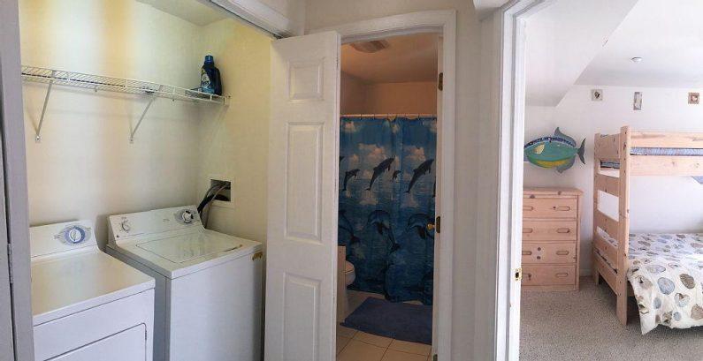 Full washer/dryer, Full bath, and Bunkbed room 2nd floor