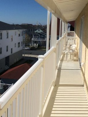 1 of 2 private balconies 2nd floor. Enjoy Friday night fireworks from this balcony