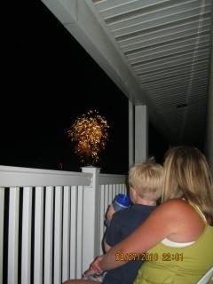 Enjoying Friday night fireworks from 1 of 2 private balconies