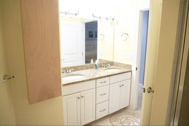 Master Bathroom with Double Vanity & Fold Out Ironing Station