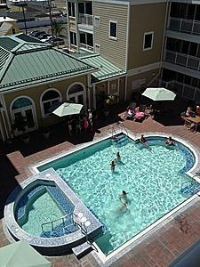 Pool, Hot Tub, and Lounge Area