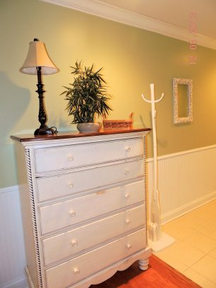 Foyer View with Chest of Drawers & Coat Rack