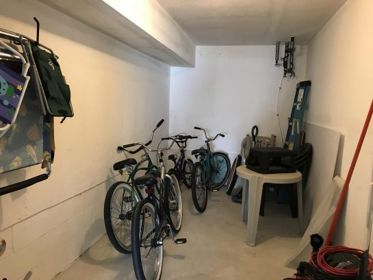 Private Spacious Storage, Including Bikes and Beach Supplies.